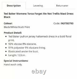 14. TED BAKER LONDON Torus forget me not trellis Maxi dress. Size M NWT