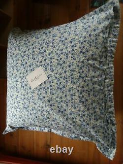 $280 Robert Graham 2 Euro Sham Blue Petite Fleurs Forget Me Not Flower Italy New