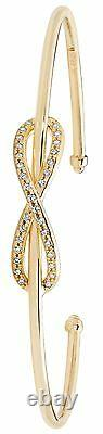 9 carat Yellow Gold Ladies Infinity Forget me Knot Bangle 4.55gr 7 Hallmarked