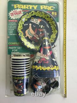AAAHH! REAL MONSTERS PARTY PAC SET VINTAGE SEALED 65 Pieces Forget Me Not