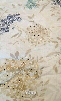 Anne De Solene Nelly Queen Flat Sheet Violets Forget Me Not Flower Bouquet New