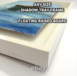 Any Size Shadow Tray Picture Frame for Floating a Raised Canvas or Photo Board
