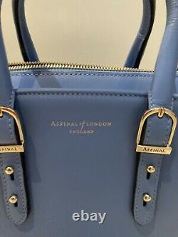Aspinal Of London Marylebone Forget Me Not Blue Mini Tote Unused/new