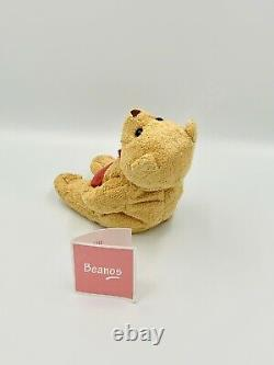 Beanos Avon Forget Me Not Bear Cute Cudley Baby Toy Vintage Rare Light Brown