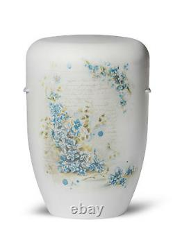 Biodegradable Cremation Ashes Funeral Urn / Casket FORGET ME NOT FLOWERS