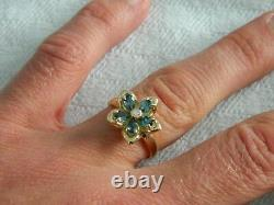 Clogau 9ct Gold Forget Me Not Blue Topaz & Diamond Ring RRP £750.00 size O