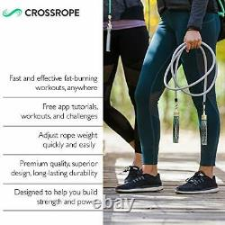 Crossrope Get Strong Set 2020 L 9'0 Weighted Jump Ropes for Strength Tra