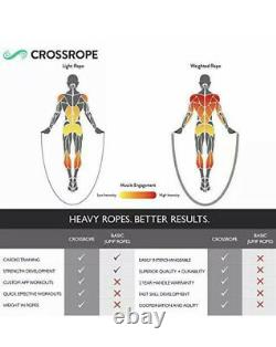 Crossrope Jump Rope Get Strong Set Weighted Jump Ropes for Strength Training