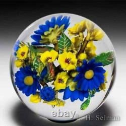 David Graeber 2020 royal daisy and yellow forget-me-not flower bouquet orb