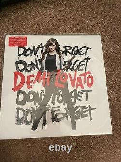 Demi Lovato Don't Forget RARE Clear with Red & Black Splatter UO Vinyl (LIKE NEW)