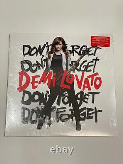 Demi Lovato Dont Forget LP Clear W Red & Black Vinyl UO Exclusive Sold Out