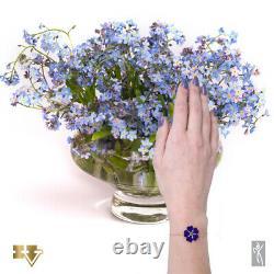 Diamond & Gold Women Bracelet Armenian Genocide remembrance Forget Me Not