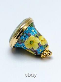 Elliot Hall Enamels- Buttercups Forget me nots 1/1 Ltd Edition By E. Todd