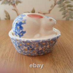 Emma Bridgewater Bunny on Basket Rabbit Forget Me Not 1st Quality New