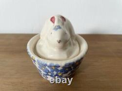 Emma Bridgewater Forget Me Not Bunny on Basket Coddler First Quality