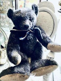Forget Me Not Bear by Mary Cute Gray Mohair