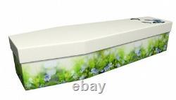 Forget Me Not Plants Floral Design Cardboard Picture Coffin Spring Symphony
