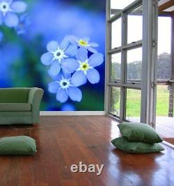 Forget-me-not-Wall Mural-7.5'wide by 8'high