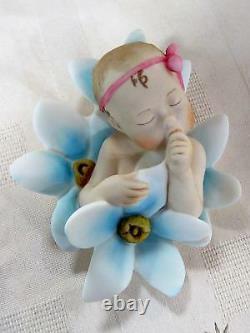 G. Armani #7556c Baby Girl Forget Me Not Brand Nib Newborn Girl Full Color F/sh