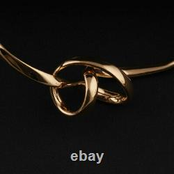 Georg Jensen Gold Bangle # 1241. Forget Me Knot. 18 Carat. Vivianna Torun. NEW