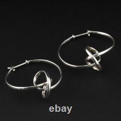 Georg Jensen Sterling Earrings # 444. Silver Forget-Me-Knot. Vivianna Torun. NEW