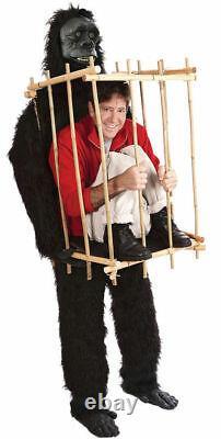 Gorilla Unique Costume GET ME OUTTA THIS CAGE Magic for Theater Reenactment
