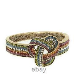 Heidi Daus Forget Me Knot Crystal-Accented Bangle Bracelet Med/Lrg $200 Retail