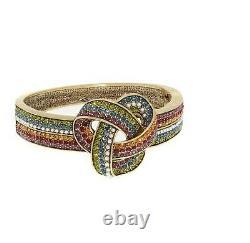 Heidi Daus Forget Me Knot Crystal Bangle Bracelet M/l- Retail $199