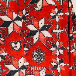 Isabel Marant Pearl snap Blouse Red forget me not NWOT 44 western
