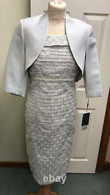 Ispirato Mother of the Bride Outfit Forget Me Not Silver Blue Size 18 BNWT £680