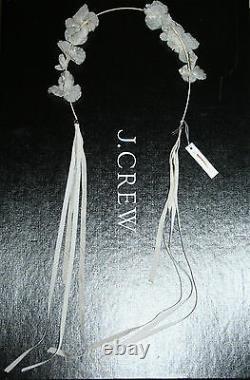 Jennifer Behr For J. Crew Forget-me-not Circlet Ivory Retail $395