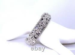 John Hardy JAI Forget Me Not Heirloom Sterling Silver Cuff Bracelet 6-3/4 NIB