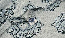 John Robshaw Dahara 2 Twin Duvet Cover Set Forget Me Not Violets Flower Dots New