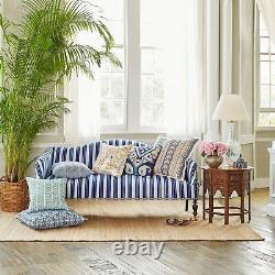 John Robshaw Ekato Decorative Pillow Green Blue Turquoise Forget me not Flowers