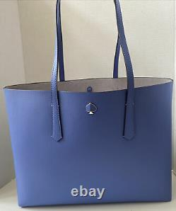 Kate Spade New York Molly Large Tote Leather Forget-Me-Not Blue One Size B-NEW