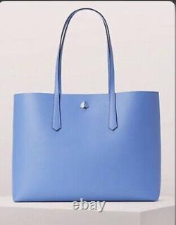 Kate Spade New York Molly Large Tote, Leather, Forget-Me-Not Blue One Size NEW