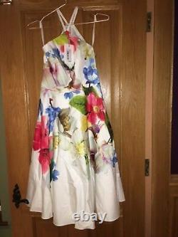 Ladies Forget Me Not Halterneck Dress Size 8 Brand new never worn