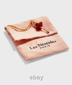 Les Nereides Forget-me-not Rosebuds and Ladybird necklace, Handmade Kette (OVP)