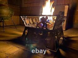Lest We Forget Fire Pit log Burner Metal Garden Poppy Wood Stove Custom