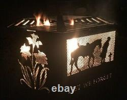 Lest We Forget WELSH mix hexagonal fire pit natural finish with grill