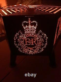 Lest We Forget soldier hexagonal fire pit Royal Engineers natural finish