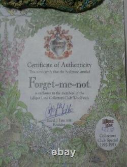 Lilliput Lane Forget-me-not 1992-3 Collector's Club 00599 New Mint In Box