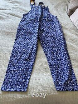 Lovely BNWT Lucy & Yak LE Forget Me Not Blue Floral Dungarees 16 R