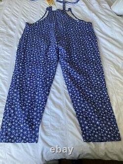 Lovely BNWT Lucy & Yak LE Forget Me Not Blue Floral Dungarees 22 L