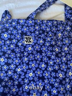Lovely BNWT Lucy & Yak LE Forget Me Not Floral Dungarees 14 L L32