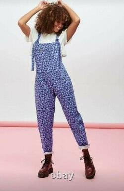 Lucy & Yak Forget Me Nots 10L Limited Edition dungarees