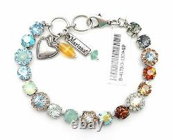 MARIANA Forget Me Not Swarovski Silver Necklace Blue Green Brown Grey 1329