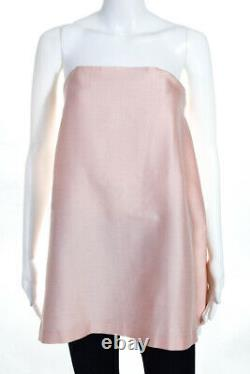 Macgraw Womens Silk Blend Strapless Forget Me Not Top Pink Size 8