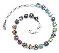 Mariana 1329 Forget Me Not Multi Color Swarovski Silver Plated Necklace NWT
