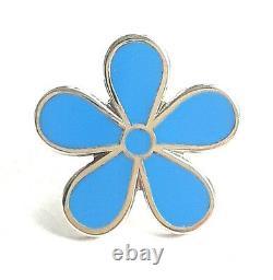 Masonic Flower Forget Me Not 11mm Enamel Lapel Pin Badge